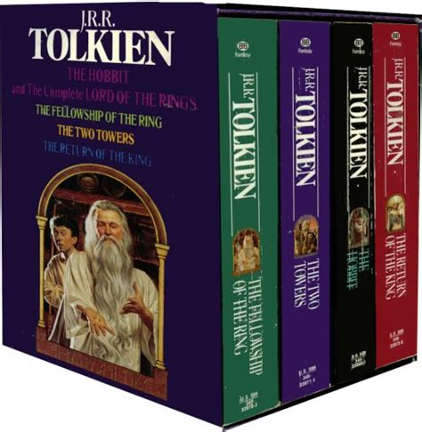 the series books the hobbit and the complete lord of the rings by j r r