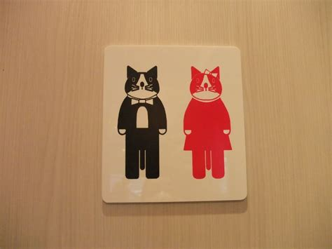 cat bathroom sign 25 best ideas about restroom signs on pinterest half