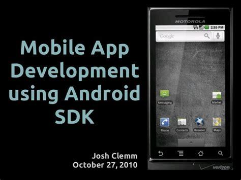 developer android sdk mobile app development using android sdk