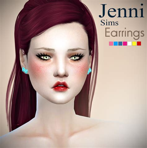 jennisims downloads sims 4 sets of accessory juice box jennisims downloads sims 4 set accessory earrings 3designs