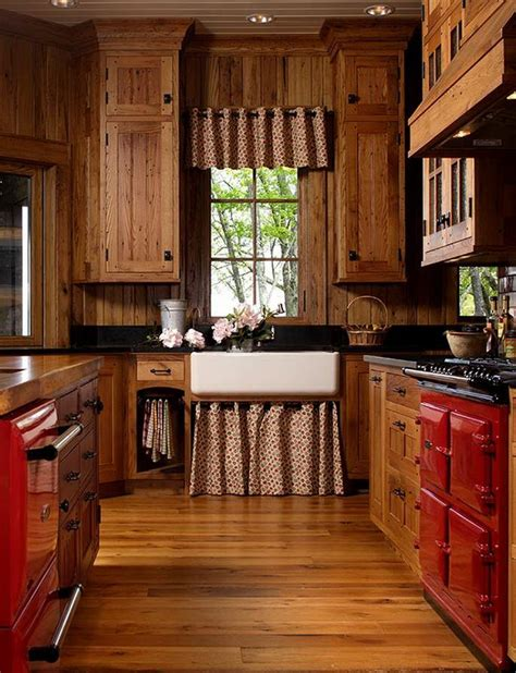 Rustic Country Kitchen Cabinets Mountain Air Family Lodge Rustic Country Kitchens