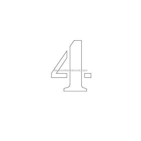 printable number stencils 4 inch free 5 inch 4 number stencil freenumberstencils com