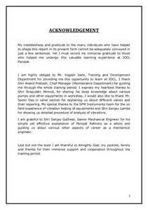 Acknowledgement Sample For Industrial Training Report Similiar Acknowledgement Of Training Form Keywords