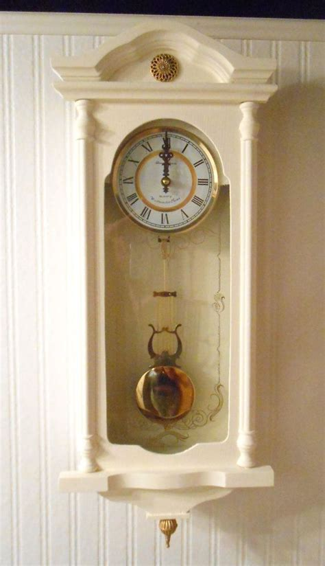 upcycled pendulum wall clock shabby chic tawnystreasures