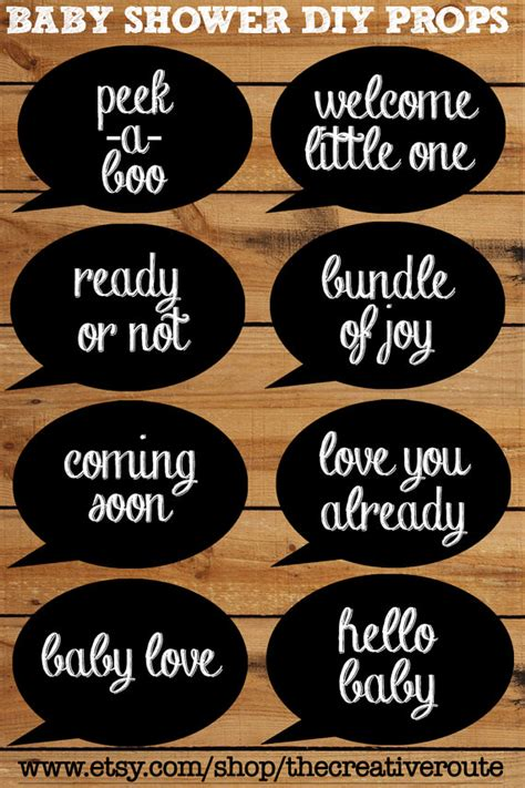 photo booth props printable sayings simple chalkboard photo booth props for baby shower this