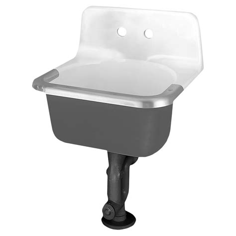 akron cast iron wall mounted service sink american standard