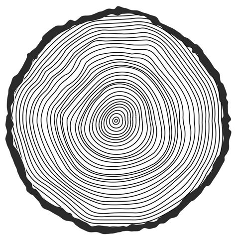 tree ring coloring page vector conceptual background with tree rings stock vector