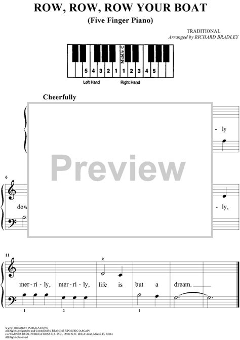 row your boat piano numbers row row row your boat sheet music for piano and more