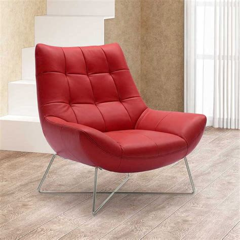 Accent Chair Modern Medici Tufted Leather Modern Accent Chair Zuri Furniture