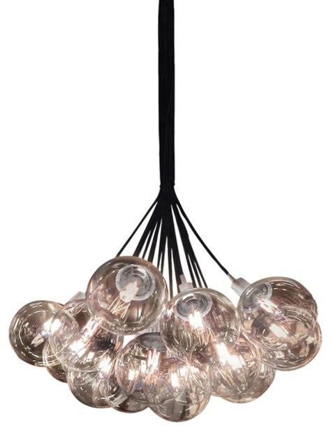 Cluster Pendant Light Sonneman Orb 19 Light 26 Quot Cluster Pendant In Chrome Finish Clear Glass Modern Pendant