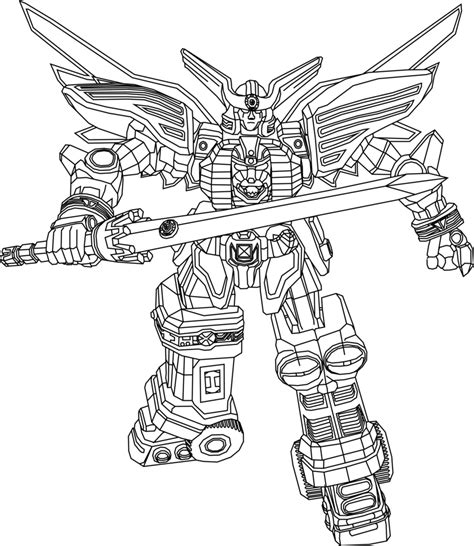 power rangers dino charge megazord coloring pages zeo megazord lineart by theothersmen on deviantart