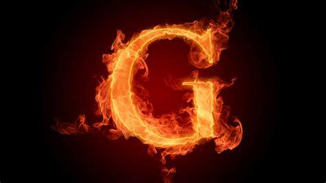 Flaming letter G wallpaper #7534