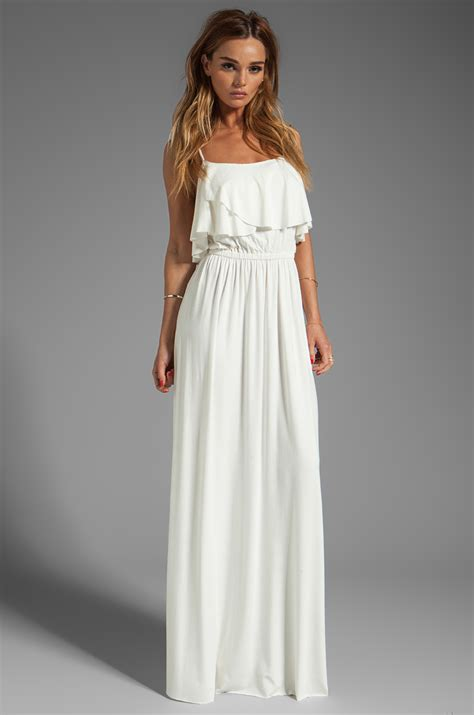 maxi white a pally cloris maxi dress in white in white lyst