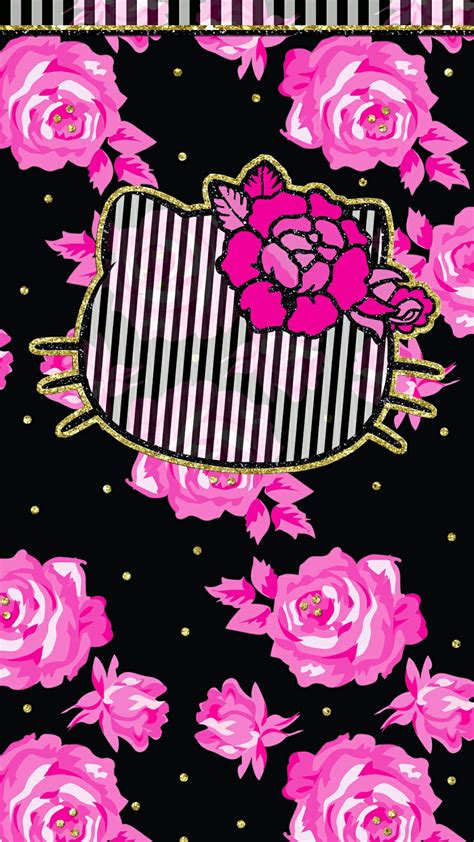 wallpaper hello kitty pink for iphone iphone wall hk tjn iphone walls 4 pinterest black
