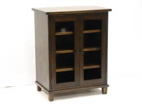 Audio Cabinet With Glass Doors Stereo Cupboard Stereo Cabinet With Two By Harvesttreasuresinc
