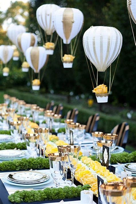air balloon wedding centerpieces 16 wedding decoration ideas with balloons page