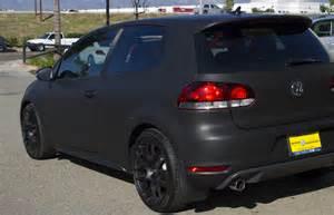 rear corner flat black avery car wrap ges graphics
