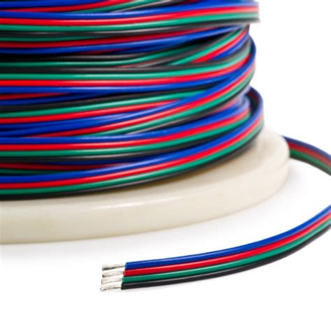 rgb led strip connection wire blue red yellow black