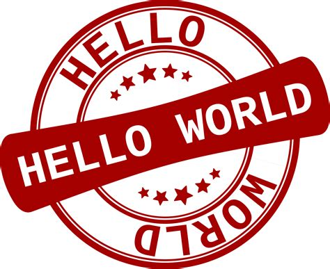 hello world clipart label hello world