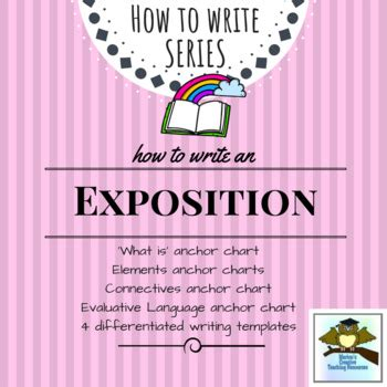 Exposition Template by Exposition Writing Pack 4 Anchor Charts 4 Differentiated