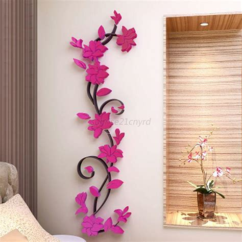 wall stickers home decor 3d removable flowers wall sticker home room