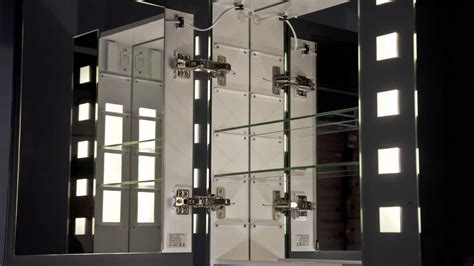 bathroom mirror with built in light illuminated bathroom mirror cabinet with built in demister