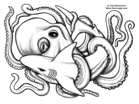 tribal octopus tattoo designs try a new tribal shark design tattoes idea 2015