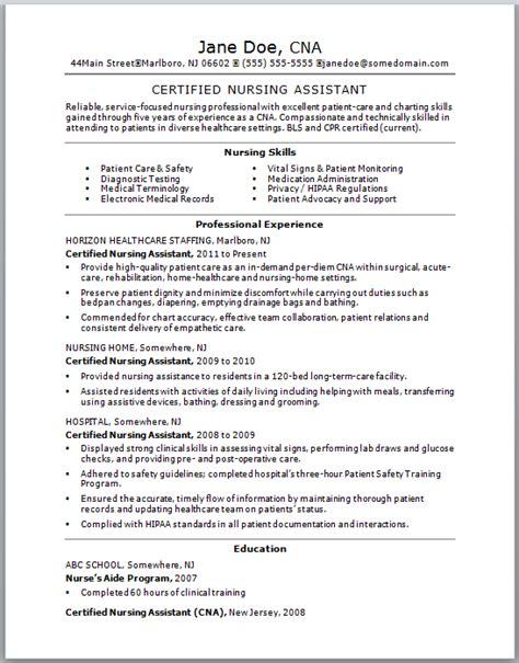 Nursing Assistant Duties Responsibilities Resume Cna Duties Resume Sle Sle Cna Resume Doe
