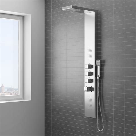 Shower Panneling by Milan Modern Stainless Steel Tower Shower Panel