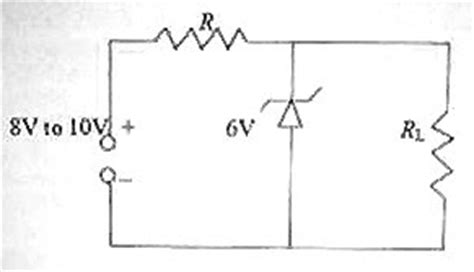 shunt type zener diode voltage regulator physicsplus electronics choice questions on zener diodes