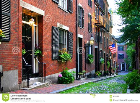 beacon hill boston stock photography image 4220982