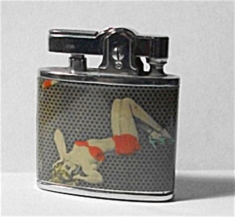 29 Lighters On Dresser by Vintage New Stock 1950 S Pinup Girlie Lighter