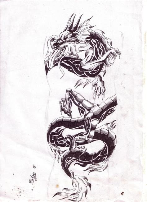 tattoo gallery dragon tribal chinese dragon tribal tattoo by tagitbud on deviantart