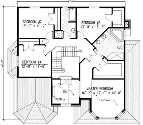 upper floor plan european style house plan 4 beds 2 50 baths 2699 sq ft