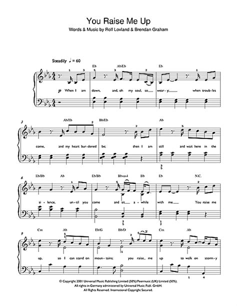 you raise me up violin part sheet music for violin musescore