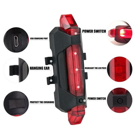 Lu Sepeda 5 Led Taillight Rechargeable Lu Sepeda 5 Led Taillight Rechargeable Blue Jakartanotebook
