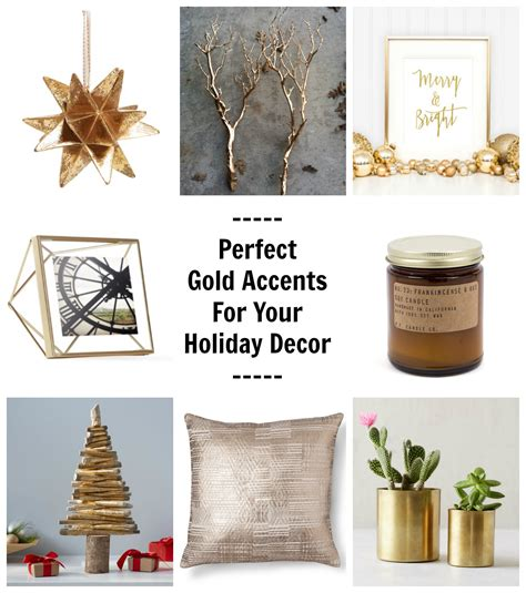 gold accents for your decor