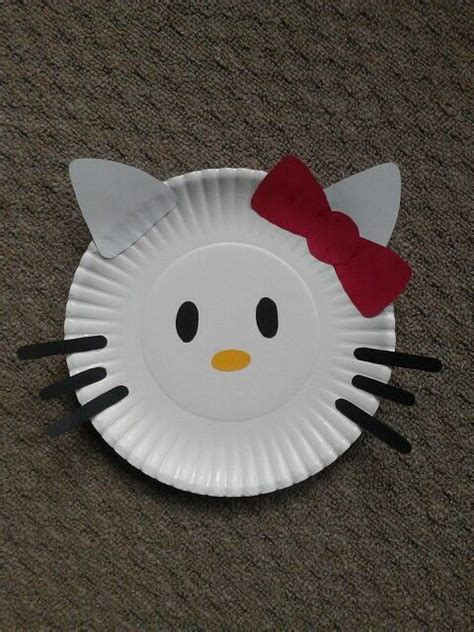 Paper And Glue Crafts - hello paper plate craft just cut shapes from