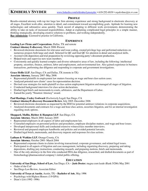 Sle Resume Lawyer Associate Personal Injury Manager Sle Resume 28 Images Brian