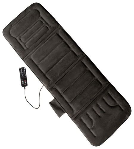 comfort products inc comfort products inc heated massage mat gray 60 2907p04