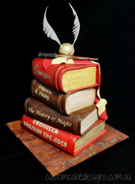 Harry Potter Stacked Books Cake Cakecentral M