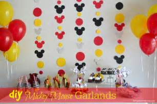 Diy mickey garland decoration our homemade life