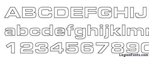 aero extended hollow font   legionfonts