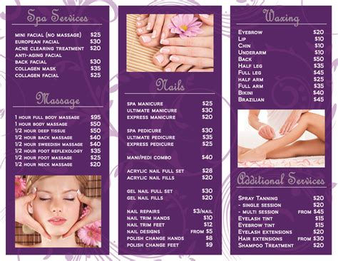 Nail Hair Salon Marketing Materials Laura Nagel Nail Brochure Templates Free