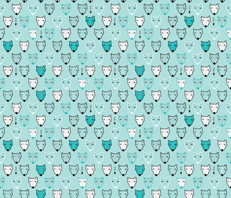 quirky pattern fabric cute quirky hand drawn polar bear winter illustration