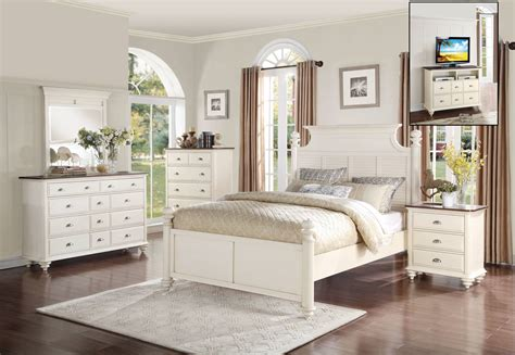 bedroom sets for less homelegance floresville bedroom set antique white 1821