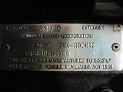 Suzuki Car Vin Decoder Is My Gixxer A K5 Or A K6 Suzuki Gsx R Motorcycle