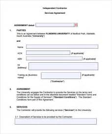 template of a contract sle contract agreement 8 documents in pdf word