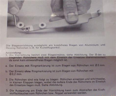 Deko Aus Papier Basteln 3918 by Biegevorrichtung F 252 R Tankrohre Hobby Zentrum Schneider