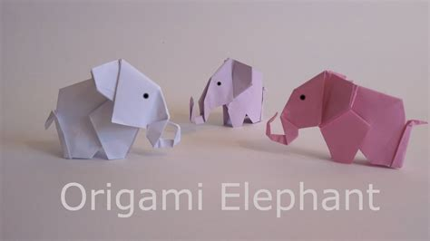 How To Make A Paper Elephant - origami how to make a paper elephant